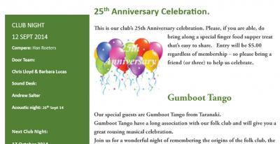 September 2014 Newsletter out